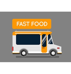 Fast food truck city car food hipster truck auto vector
