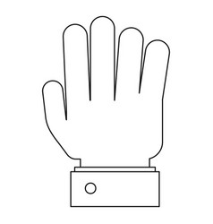All finger icon outline style vector