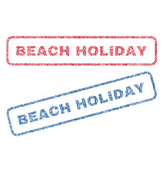 Beach holiday textile stamps vector