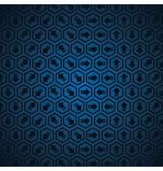 Blue Arrow background vector image