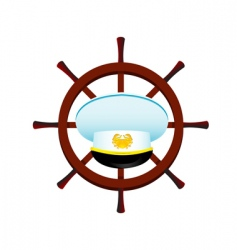 Boat captain symbol vector