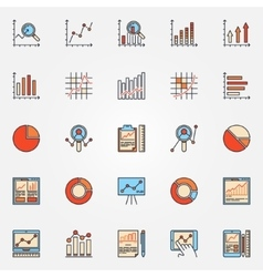Business diagrams and charts icons vector image vector image