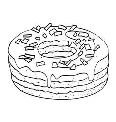 Cartoon image of doughnut vector