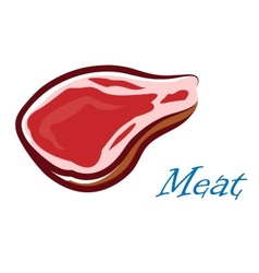 Cartooned meat steak vector image