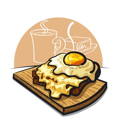 cheese toast vector image vector image