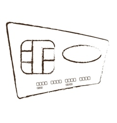 credit card global bank sketch vector image
