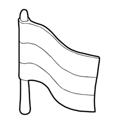Flag icon in outline style vector