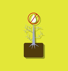 Flat icon design collection thirsty plant in vector