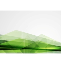 Green grunge tech shapes abstract background vector