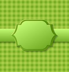 Green label design vector image