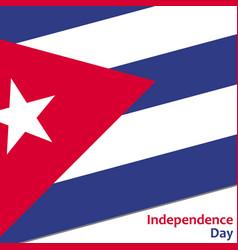 kuba independence day vector image