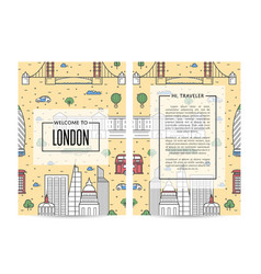 london traveling banners set in linear style vector image vector image