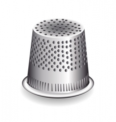 metal thimble vector image vector image