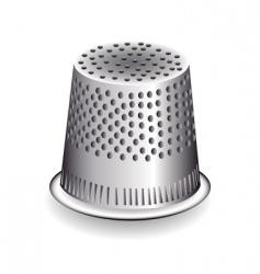 Metal thimble vector