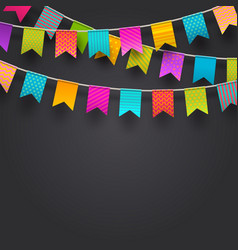 Multicolored flags garlands vector