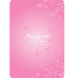 pink spring vector image