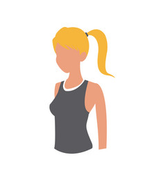 Sport girl fitness wearing clothes gym vector