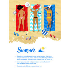 summer vacation design vector image vector image