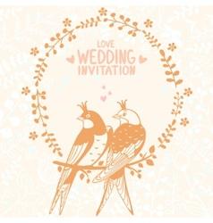 swallows invitation vector image vector image