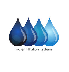 Symbol of water purification vector