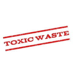 Toxic waste watermark stamp vector