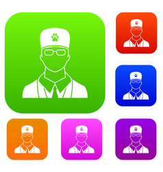 veterinarian set collection vector image