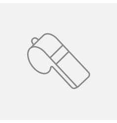 Whistle line icon vector image