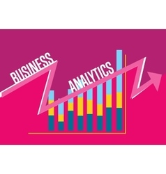 Business analytics banner with graphic report vector