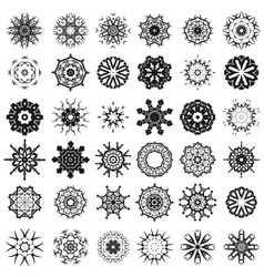 Set of different tribal rosettes tattoo design vector