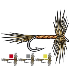 fly fishing flies vector image