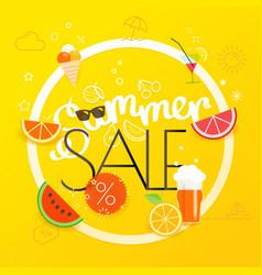Summer sale season sale concept vector