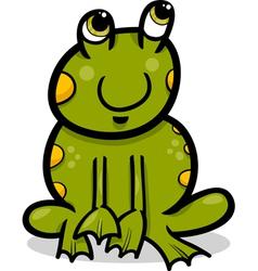 frog animal cartoon vector image