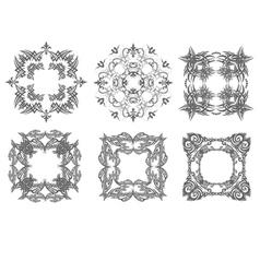 al 0750 six ornaments vector image