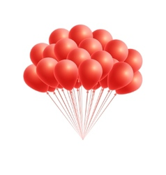 Bunch birthday or party red balloons vector