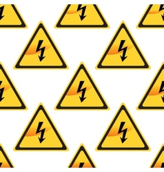 High voltage sign pattern vector