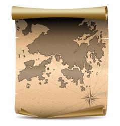 Hong kong vintage map vector