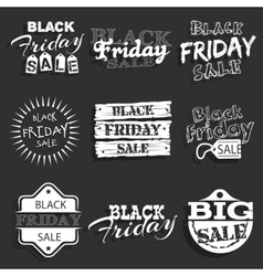 Black friday label badge with calligraphic design vector