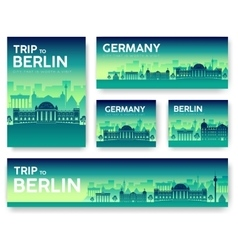 Germany landscape banners set vector