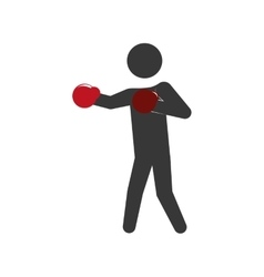 Pictogram boxing icon healthy lifestyle design vector