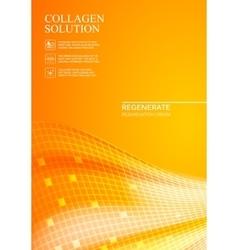 Orange background collagen solution vector image