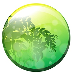 A circle with leaves inside vector image