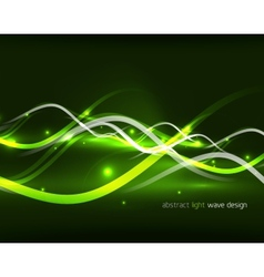 Abstract glowing lines vector image