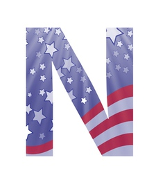 american letter N vector image vector image