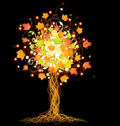 artistic autumn tree vector image