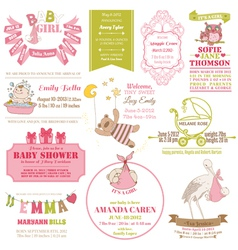 Baby Arrival and Shower Collection vector image vector image