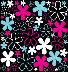 Background with sweet flowers vector