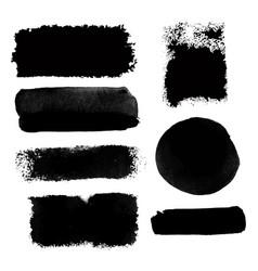 black brushstroke set2 vector image