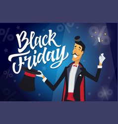 Black friday - cartoon people characters vector