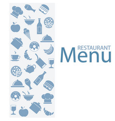 card menu restaurant vector image