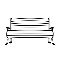 Chair in wood with legs and arms vector image